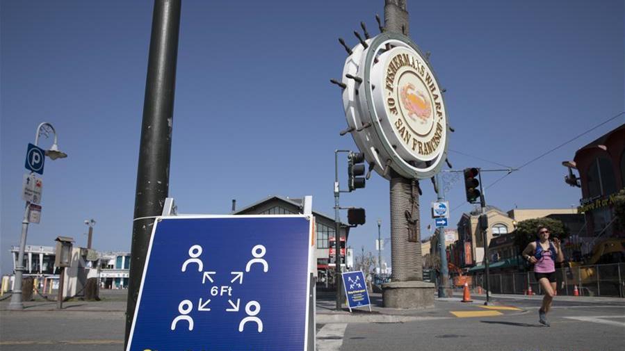 美國舊金山漁人碼頭行人稀少