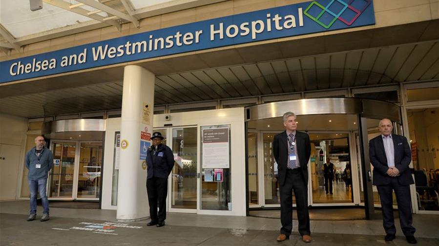英國民眾為在新冠疫情中失去生命的一線工作者默哀