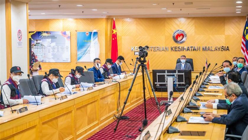 馬來西亞官員感謝中國醫療專家組提供寶貴抗疫經驗