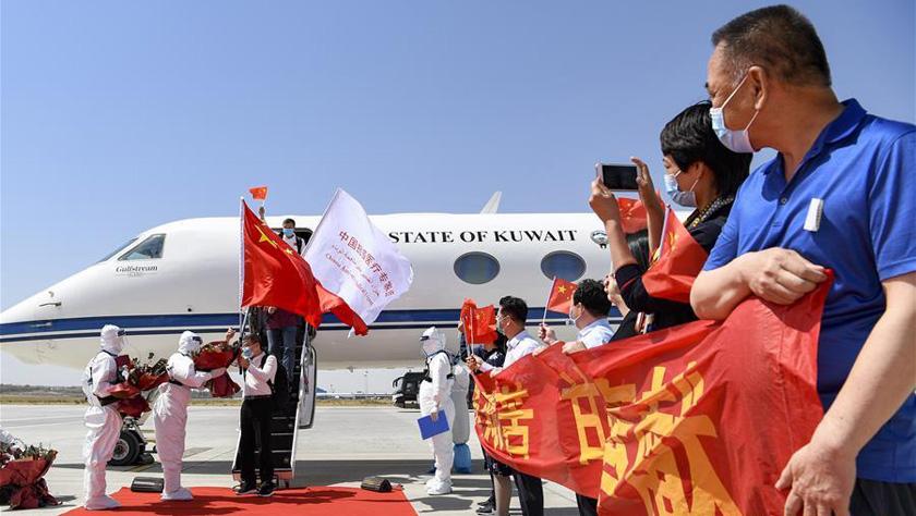 中國政府赴沙特、科威特抗疫醫療專家組完成任務回國