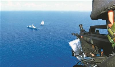 海軍第35批護航編隊航渡途中開展針對性訓練