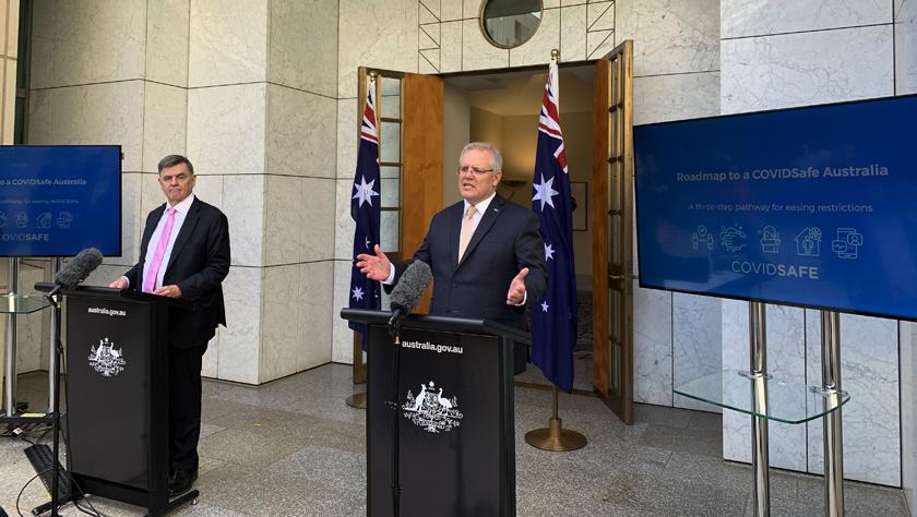 """澳總理宣布放松防控的""""路線圖"""""""