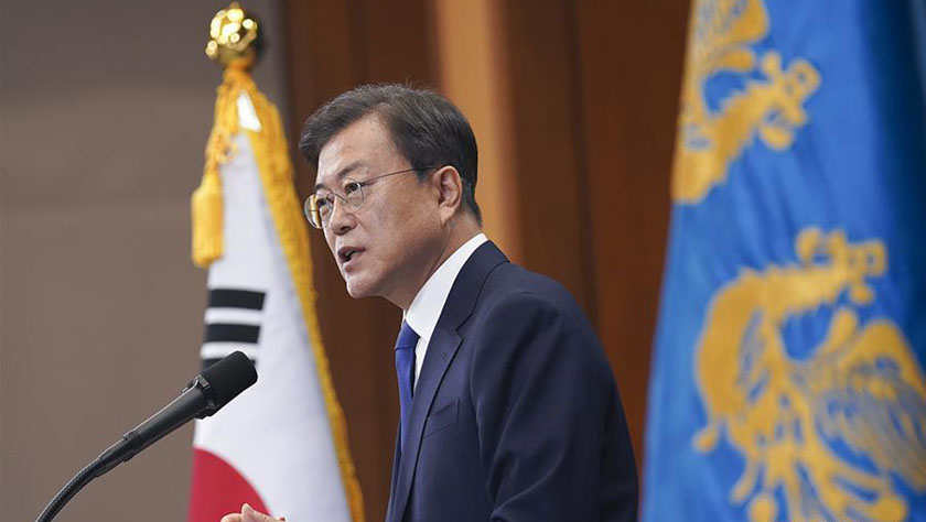 文在寅說將進一步完善韓國防疫體系