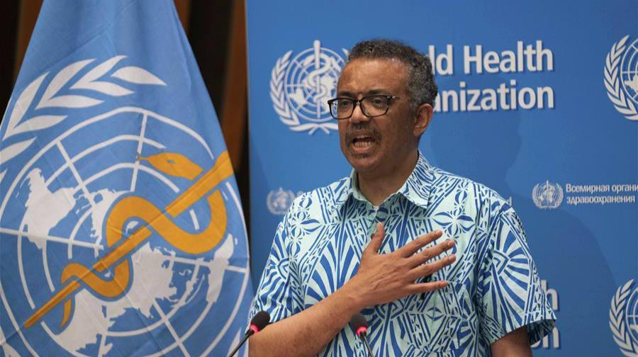 譚德塞:世衛組織將繼續發揮戰略引領作用協調全球抗疫