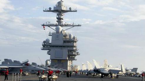 """舰载机联队登舰执行任务 美海军提升""""福特""""号航母作战性能"""