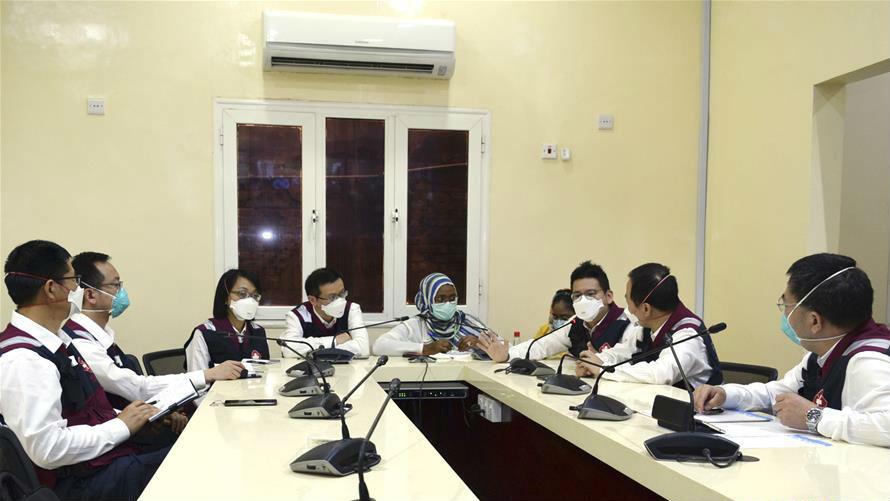 """中国援苏丹抗疫医疗专家组与苏丹多个州卫生部门""""云端""""分享抗疫经验"""