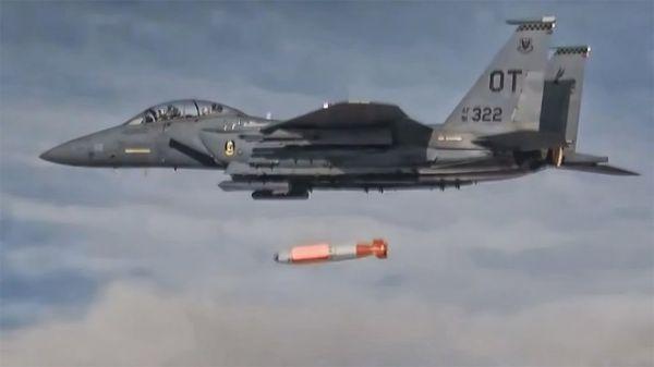 美F-15E完成投放新核弹测试 未来可搭载核弹执行任务