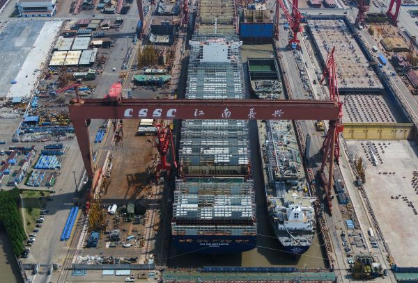 外媒:中国造船业新订单量称冠全球
