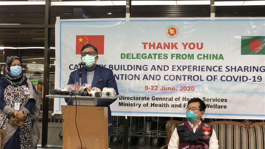中国赴孟抗疫专家组圆满完成任务回国