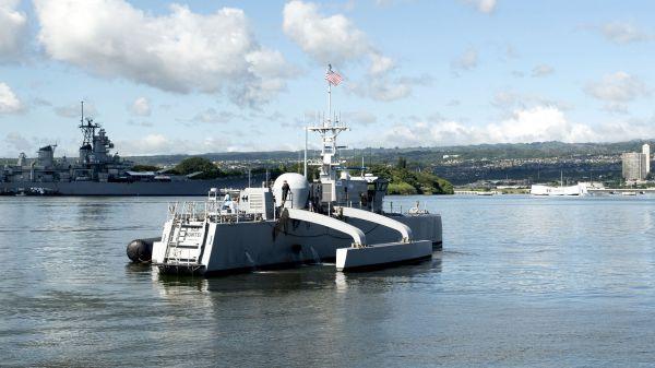 美国海军研发的无人舰系统(美国海军网站)
