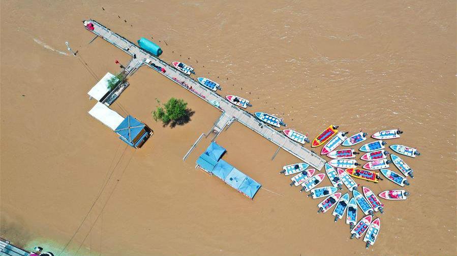 持续降雨致黄河兰州段水位上涨