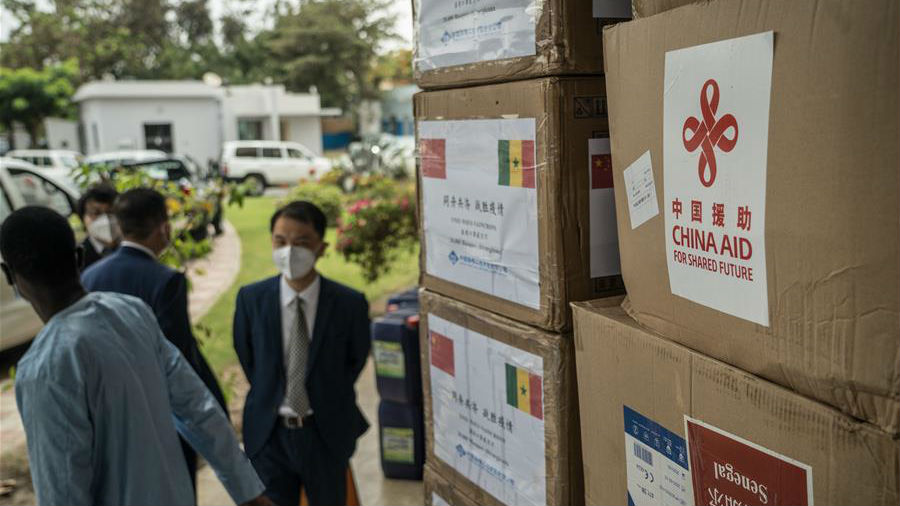 塞内加尔正式接收中国援塞第三批抗疫物资