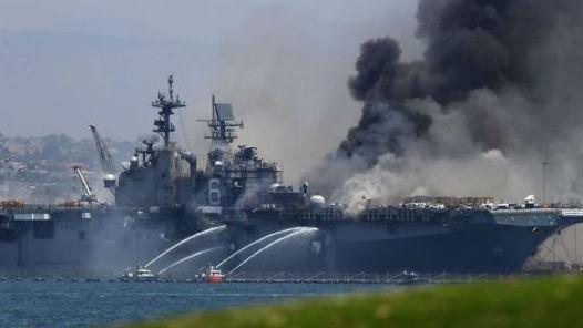 """""""好人理查德""""号大火重创美海军 F-35B太平洋部署计划受挫"""