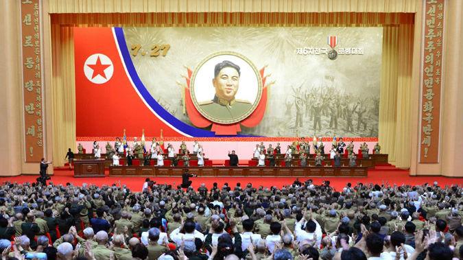 朝媒报道金正恩出席朝鲜第6次全国参战老兵大会_德国新闻_德国中文网