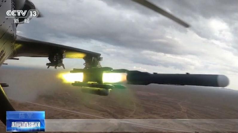 英媒:中国武直试射新型空地导弹