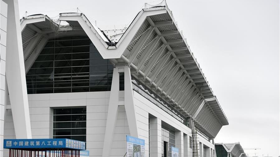 天津国家会展中心一期项目主体结构建设完成