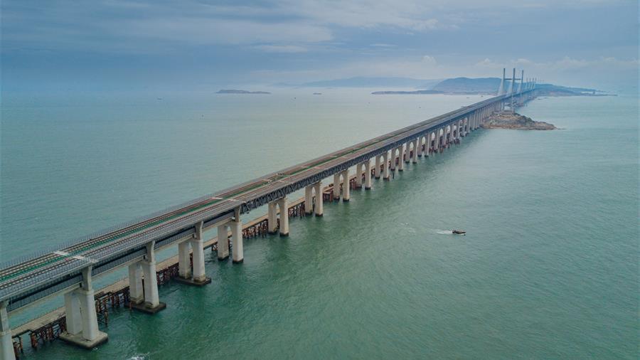平潭海峡公铁两用大桥即将完成静态验收