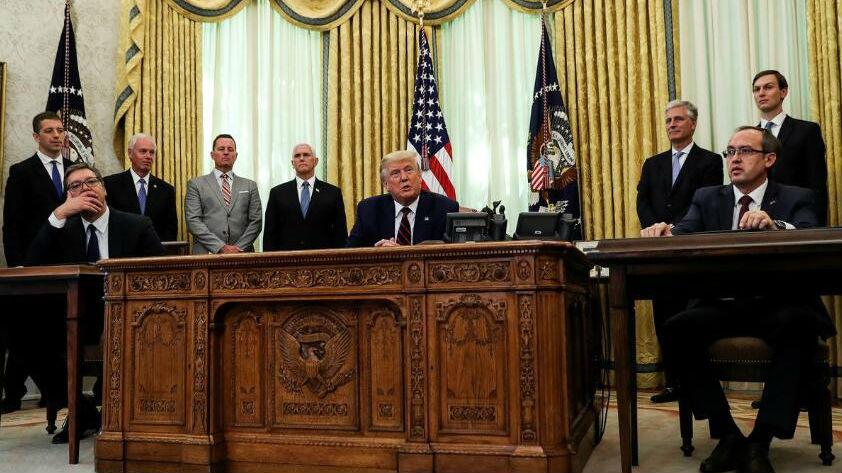 """外媒披露:在美國斡旋下,塞爾維亞代表團承受了""""巨大""""壓力……"""