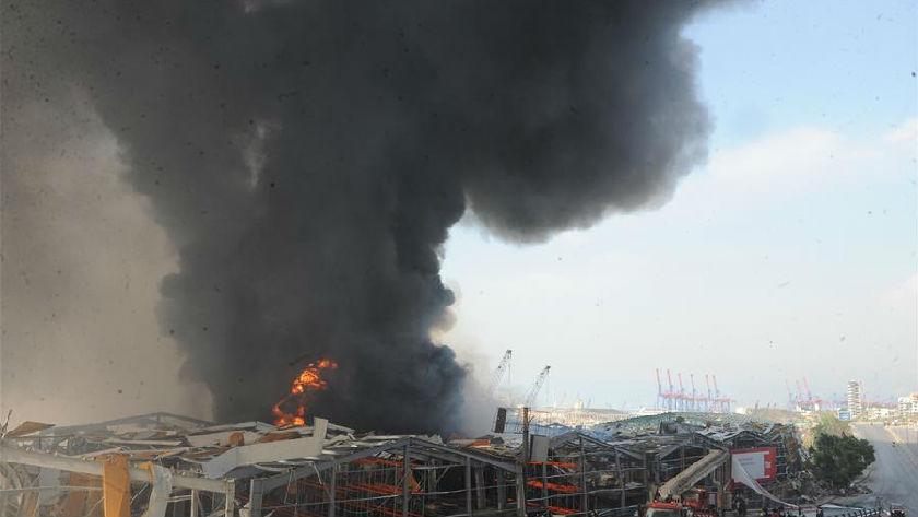 黎巴嫩贝鲁特港口区仓库发生火灾