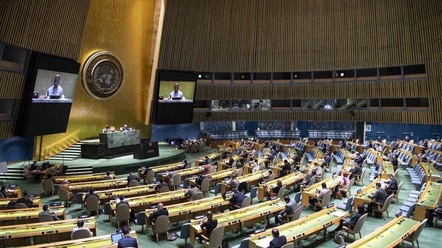 联合国大会通过新冠肺炎疫情决议
