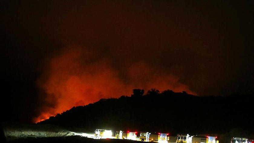山火逼近洛杉矶阿卡迪亚市