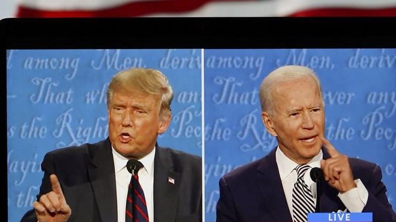 美国总统候选人进行首场辩论