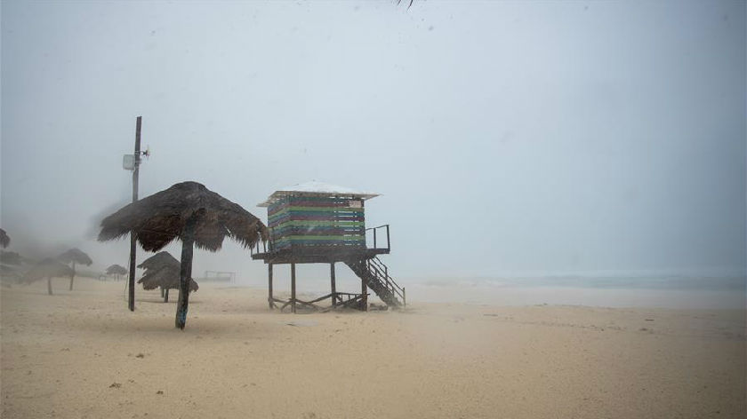 """熱帶風暴""""伽馬""""侵襲墨西哥尤卡坦半島"""
