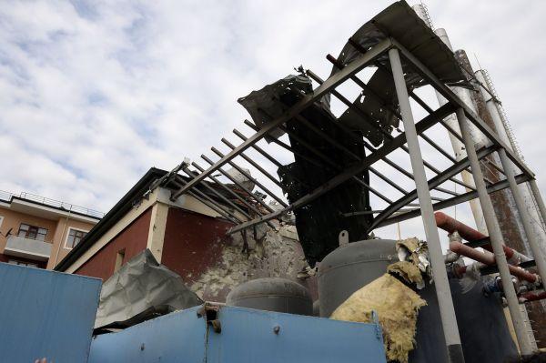 纳卡地区受损房屋