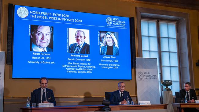 三名科學家分享2020年諾貝爾物理學獎