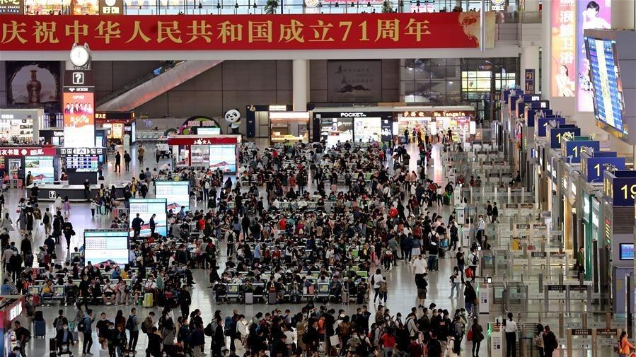 上海迎來節日返程客流高峰