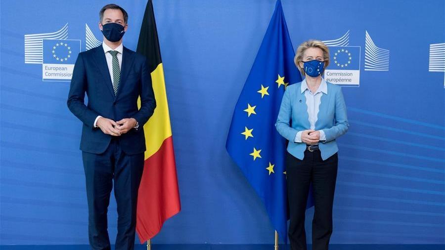歐盟委員會主席馮德萊恩會見比利時首相德克羅