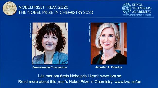 兩名女科學家分享2020年諾貝爾化學獎