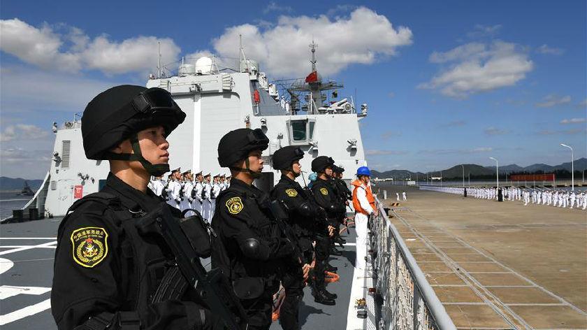 中國海軍第35批護航編隊凱旋