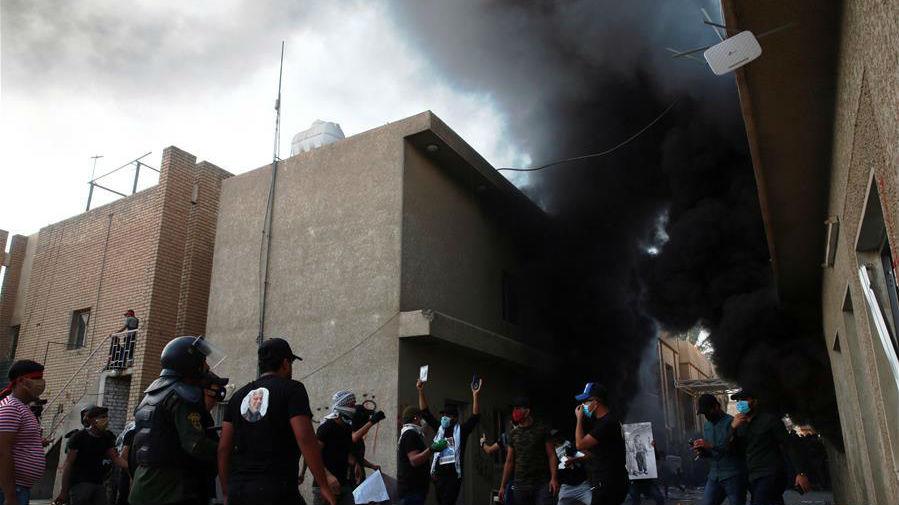 伊拉克庫民黨巴格達總部遭示威者縱火