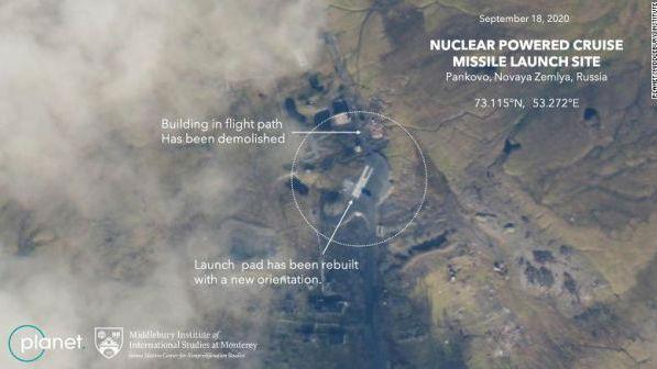 美媒:美卫星图像显示俄重启核动力巡航导弹试验