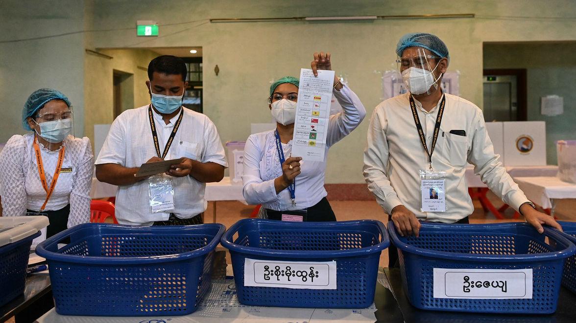 外媒:缅甸执政党宣布胜选 已赢得足够席位
