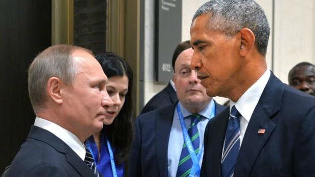 """俄媒:奥巴马忆与普京""""死亡对视"""""""