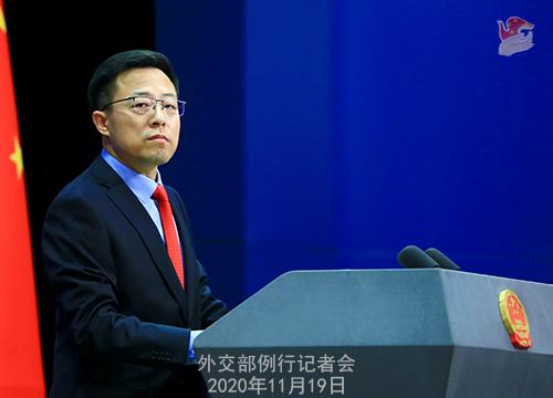 """外交部发言人严批""""五眼联盟""""插手香港:""""小心他们的眼睛被戳瞎"""""""
