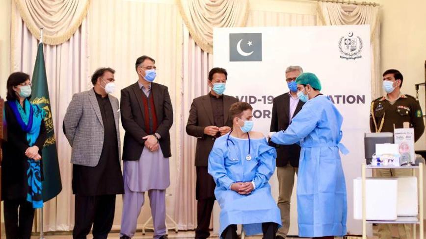巴基斯坦启动新冠疫苗接种