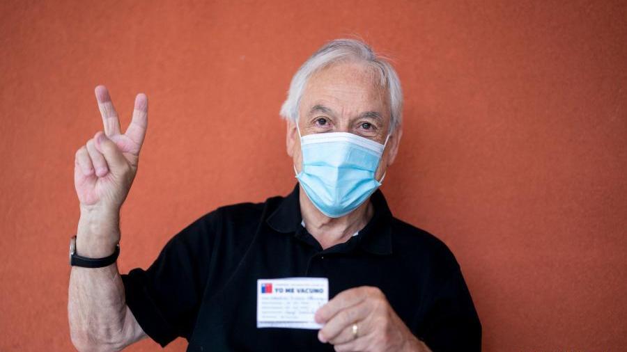 智利总统皮涅拉接种中国科兴新冠疫苗