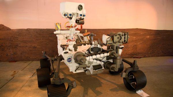 """美国NASA""""毅力""""号火星车登陆火星"""