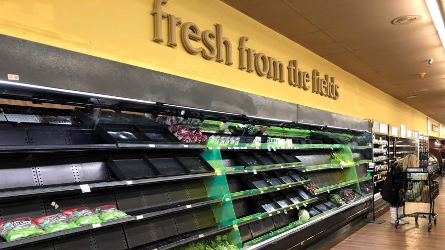 美国得州:变空的超市