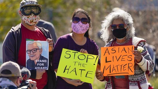 外媒:美仇恨亚裔事件激增引发怒火