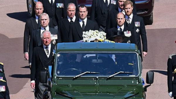 外媒:英全国默哀送别菲利普亲王