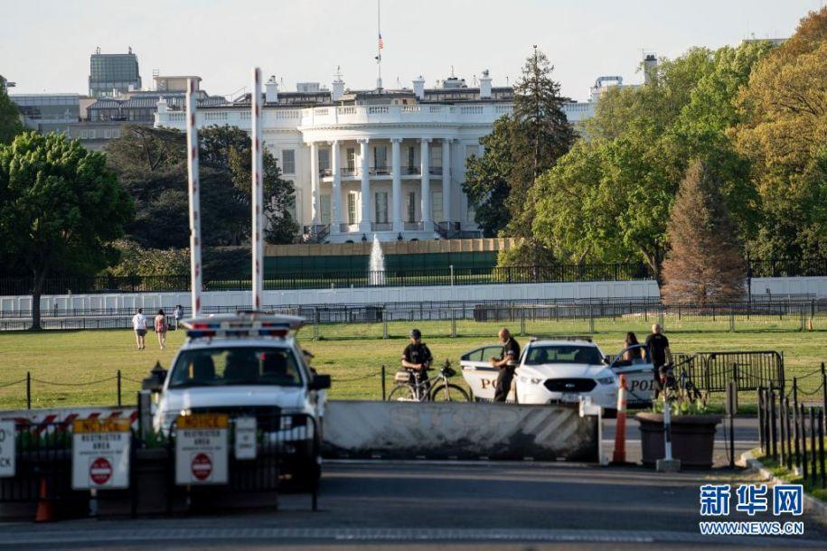 这是4月20日拍摄的美国华盛顿白宫。新华社记者 刘杰 摄