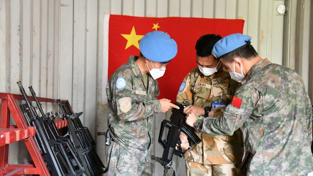 中国赴黎巴嫩维和多功能工兵分队通过年度防卫能力评估