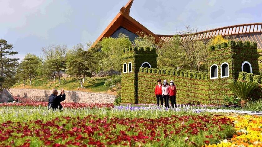 """北京国际花园节启幕 为游客打造""""花园盛宴"""""""