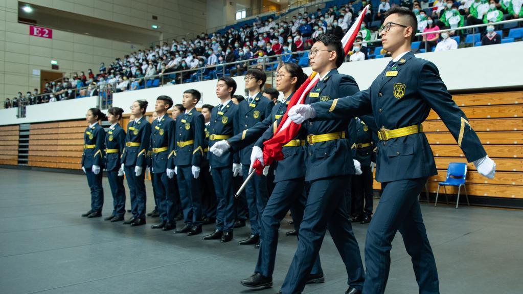 澳门学界举行青年节升旗仪式
