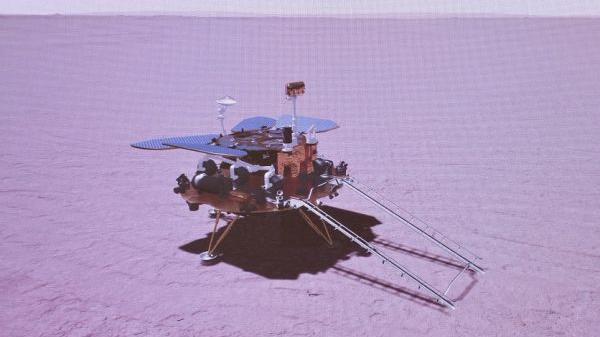 """外媒:""""天问""""在火星首次留下中国印迹"""