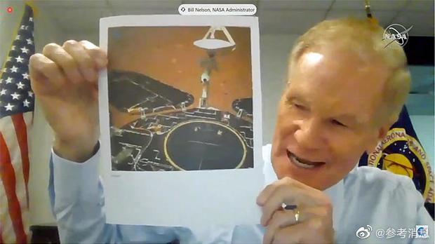 NASA局长拿着祝融号照片向美国会要钱